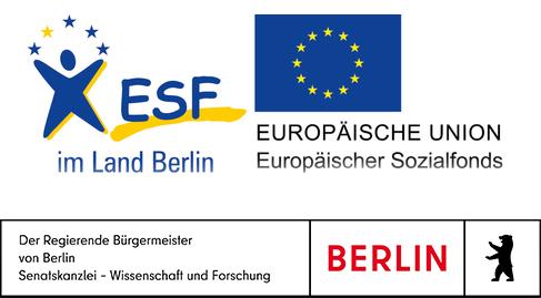 Förderlogo - ESF- EU - Senatskanzlei Wissenschaft und Forschung